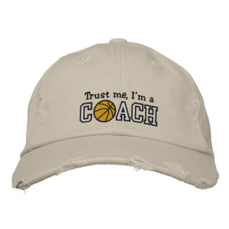 Funny Basketball Coach Embroidered Baseball Caps