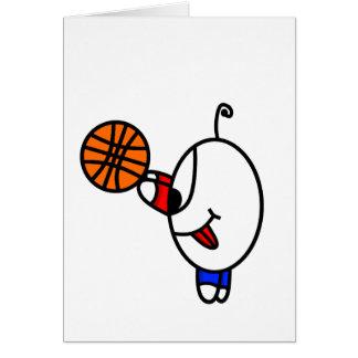 funny basketball dude card