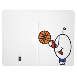 funny basketball dude journal