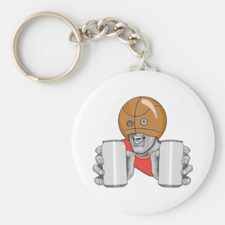 funny basketball fan fanatic basic round button key ring