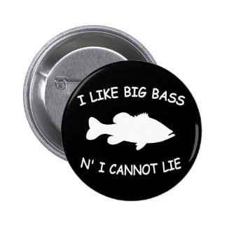Funny Bass Fishing 6 Cm Round Badge