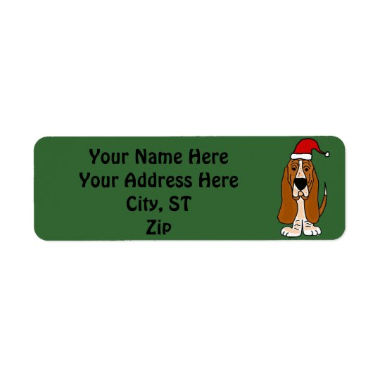 Funny Basset Hound Christmas Address labels / Tags