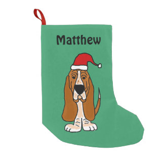 Funny Basset Hound Christmas Stocking