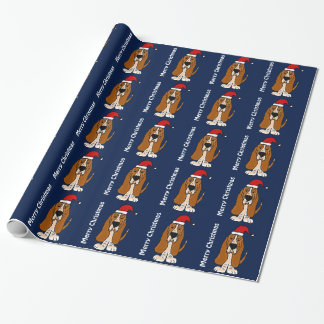 Funny Basset Hound Christmas Wrapping Paper