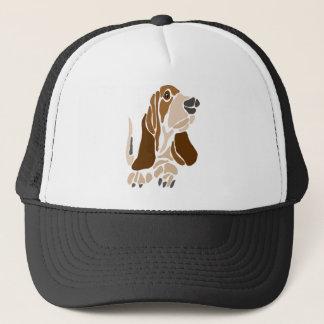 Funny Basset Hound Dog Art Trucker Hat