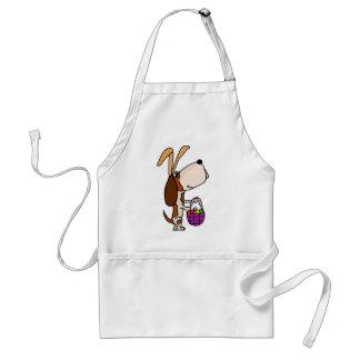 Funny Basset Hound Dog Easter Bunny Standard Apron