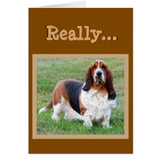 "Funny Basset Hound ""Dog Years"" Birthday Card"