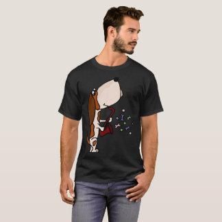 Funny Basset Hound Playing Saxophone Art T-Shirt