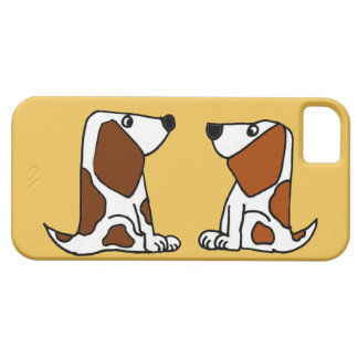 Funny Basset Hound Puppy Dogs Cartoon iPhone 5 Cases