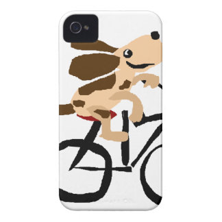 Funny Basset Hound Riding Bicycle Case-Mate iPhone 4 Case