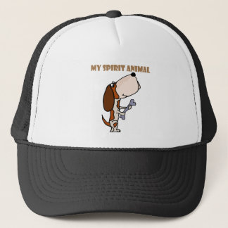 Funny Basset Hound Spirit Animal Trucker Hat