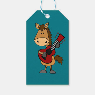 Funny Bay Horse Playing Guitar Art Gift Tags