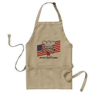 Funny BBQ apron for dad | Beige