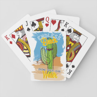 Funny beach cactus desert bring your own water playing cards