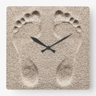 Funny Beach Theme Square Wall Clock