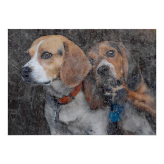 Funny Beagle Dirty Storm Door Poster
