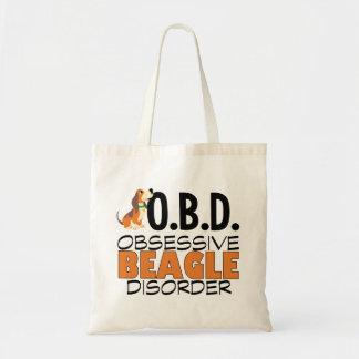 Funny Beagle Obsessed Tote Bag