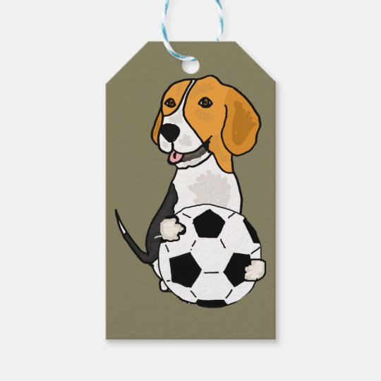 Funny Beagle Playing Soccer