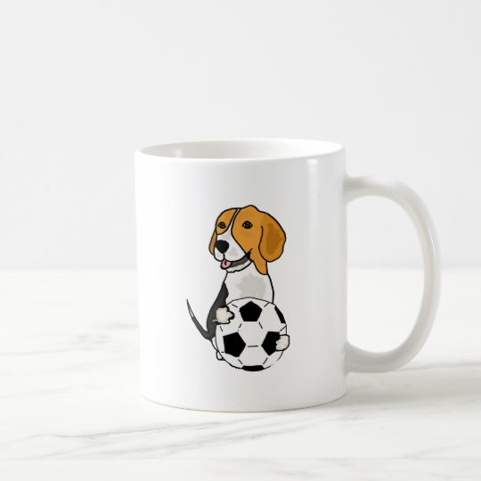 Funny Beagle Playing Soccer Coffee Mug