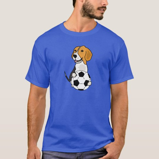 Funny Beagle Playing Soccer T-Shirt