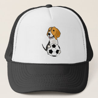 Funny Beagle Playing Soccer Trucker Hat
