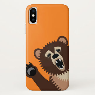 Funny Bear Attack iPhone X Case