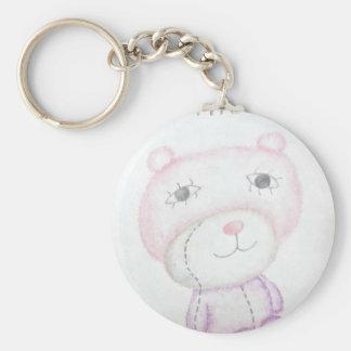 Funny bear doll keychain