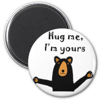Funny Bear Ready for Hug Cartoon 6 Cm Round Magnet