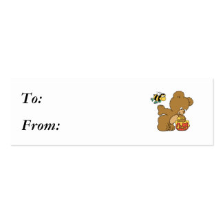 Funny Bear Sneaking Honey Pack Of Skinny Business Cards