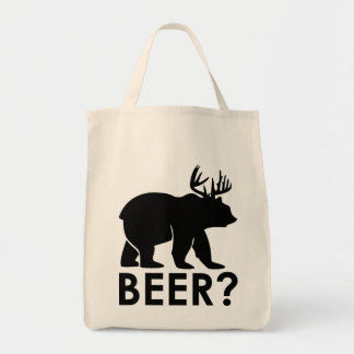 Funny Bear with Horns = Beer? Tote Bag