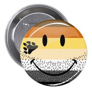 Funny Bearded Happy Gay Bear Pride Flag 7.5 Cm Round Badge