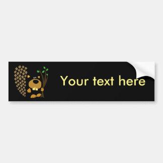 Funny Beaver Abstract Art Bumper Sticker