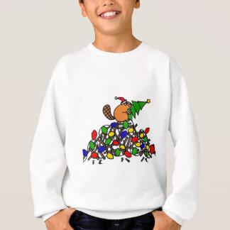 Funny Beaver Christmas Dam with Lights Sweatshirt
