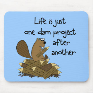 FUNNY BEAVER PROJECT MOUSE PAD