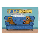 Funny Beavers Busy Getting Hammered Birthday Card