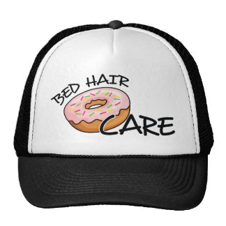 Funny Bed Hair Don't Care | Pink Donut (Doughnut) Cap