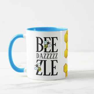 Funny Bedazzle(d) by Bees Honeycomb Mug