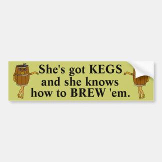 Funny Beer Brewer Car Bumper Sticker