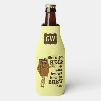 Funny Beer Brewer Keg Woman with Monogram