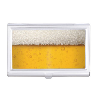 Funny Beer Bubbles Business Card Holder