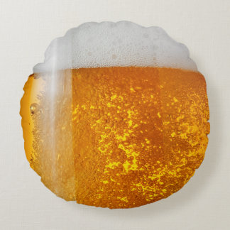 funny beer bubbles round cushion