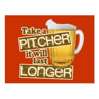 Funny Beer Drinking Humor Postcard