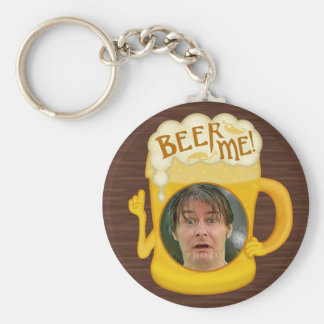 Funny Beer Me Drinking Humor | Personalized Photo Key Ring