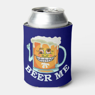 Funny Beer Me Grinning Cartoon Mug