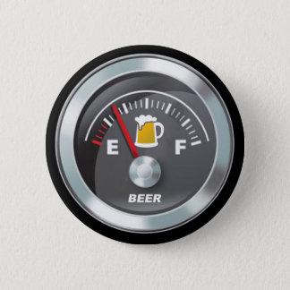 Funny - Beer Meter Fill'er Up Gauge 6 Cm Round Badge