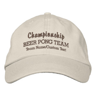Funny Beer Pong Team Drinking Game Custom Name Baseball Cap