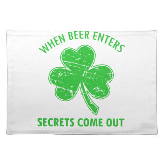 funny beer tees placemat
