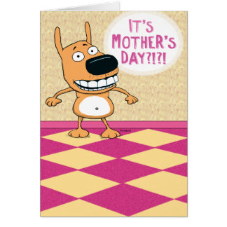 Funny Belly Rub Mother's Day Card