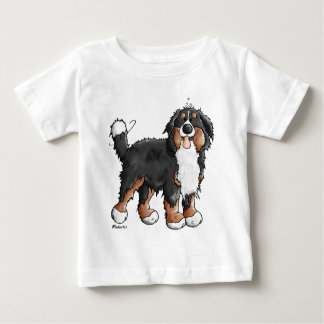 Funny Bernese Mountain Dog Cartoon Baby T-Shirt
