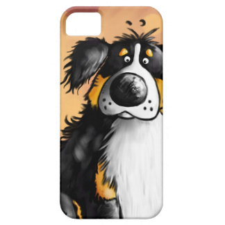Funny Bernese Mountain Dog Cartoon iPhone 5 Case